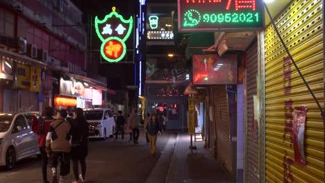 Tracking-Down-Hong-Kong-Side-Street-at-Night