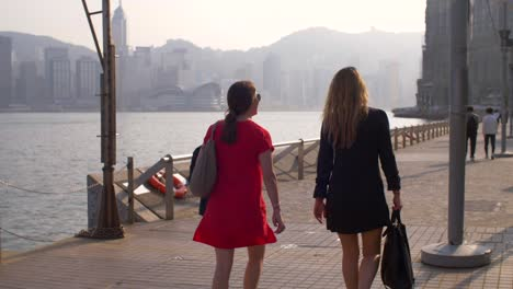 Tracking-Behind-Two-Women-in-Hong-Kong