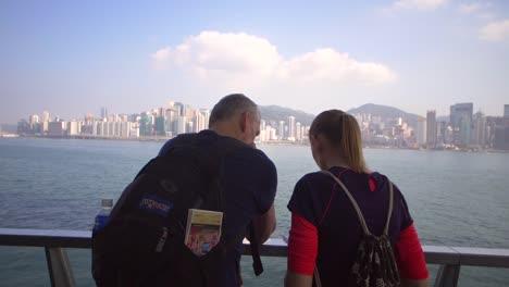 Couple-Overlooking-Hong-Kong-Skyline