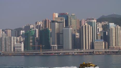 Boat-Passing-Hong-Kong-Skyline