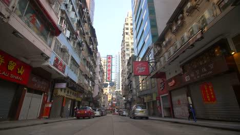 Low-Level-Shot-Along-Hong-Kong-Street