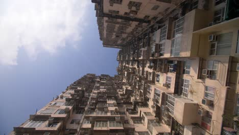 Looking-Up-at-Hong-Kong-Tower-Block