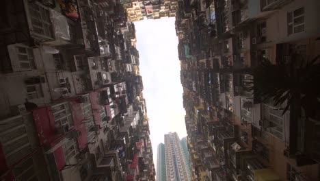 Looking-up-at-Hong-Kong-Tower-Blocks