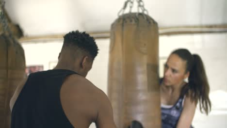 Boxers-Working-Together-in-Boxing-Gym