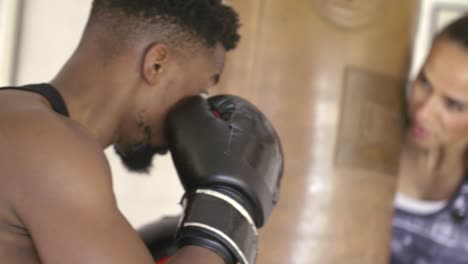 Male-Boxer-Training-in-Boxing-Gym