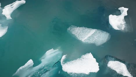Flying-Over-Small-Icebergs