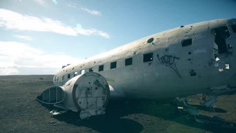 Panning-Round-Old-Plane-Wreckage