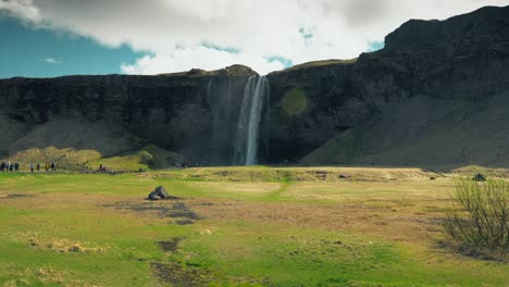 Cliff-With-a-Waterfall-in-Iceland