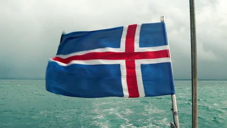 Icelandic-Flag-On-Back-of-Boat