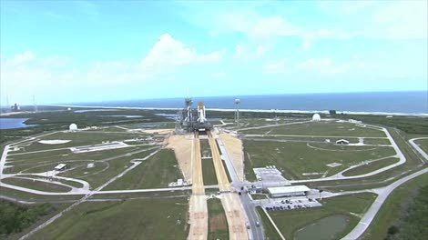 Aerial-View-of-Space-Shuttle-on-Launch-Pad-2