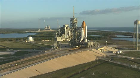 Aerial-View-of-Space-Shuttle-on-Launch-Pad