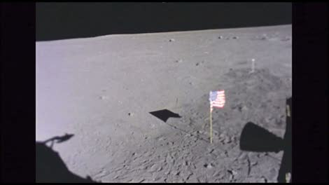 Surface-of-the-moon-+-American-flag