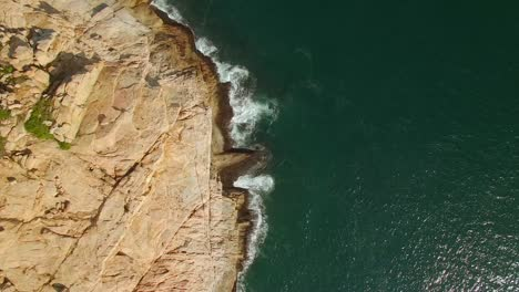 Aerial-Footage-of-Cliffs-and-Water