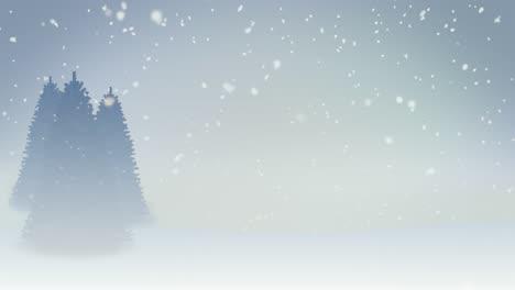 4K-Winter-Scene-with-Fog-Loop