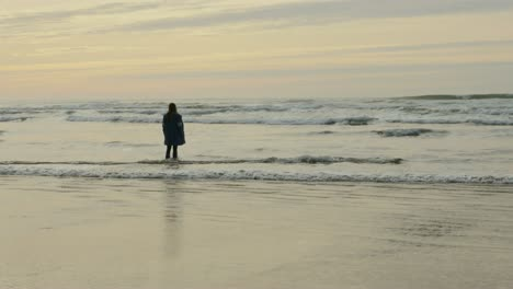 Woman-at-Seashore