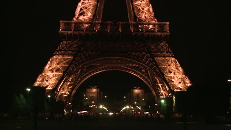 Eiffel-Tower-Base-at-Night
