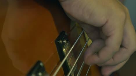 Bass-Guitar-Pickups-and-Strings-Closeup