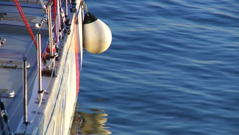 Buoy-Hanging-from-Yacht