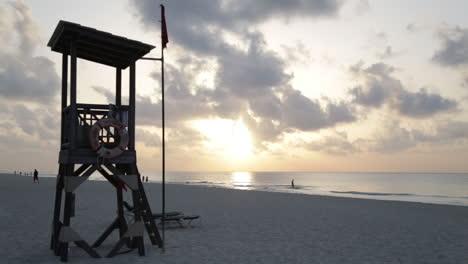 Sunrise-Over-White-Sand-Beach