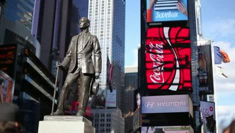 Estatua-de-George-M-Cohan-NY