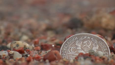 Coin-in-the-Wet-Sand