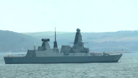 Buque-de-guerra-destructor-de-clase-de-la-Armada-británica