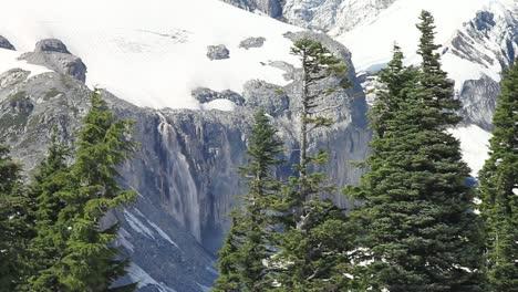 Distant-Waterfall-on-Mt-Rainier