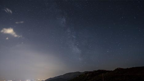 Time-lapse-Milky-Way-Over-Mountains