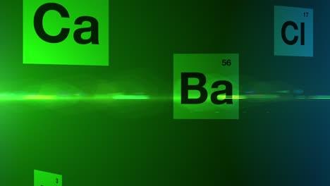 Falling-Chemical-Symbols