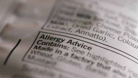 Allergy-Advice-Label