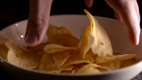 Grabbing-Crisps-Slow-Motion