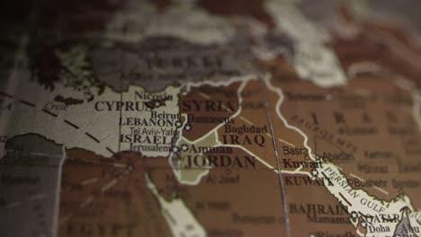 Vintage-Globe-Middle-East