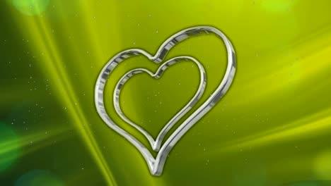 Silver-Hearts-on-Green-BG
