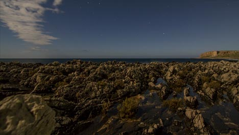 Rocky-Coast-and-Sea-at-Night
