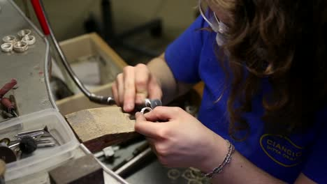 Jewellery-Making---Sanding-a-Ring-