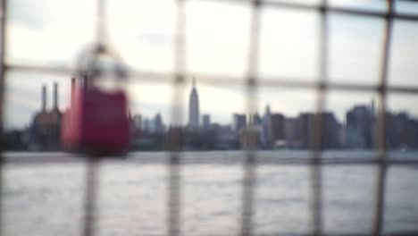 Love-Lock-Rack-Focus-to-NYC-Cityscape