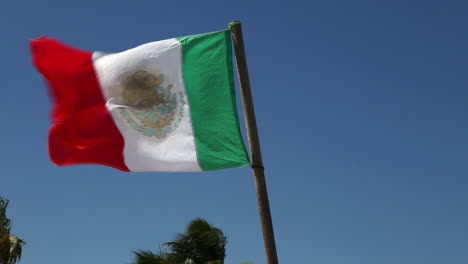 Mexican-Flag-Blowing-in-Wind