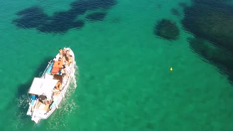 Aerial-View-of-Tourist-Boat