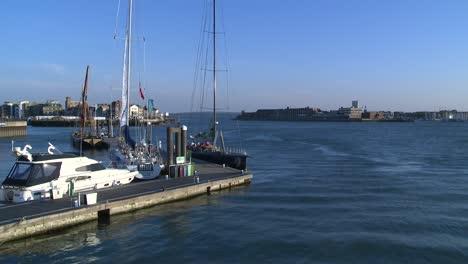 Portsmouth-Harbour-at-Dusk