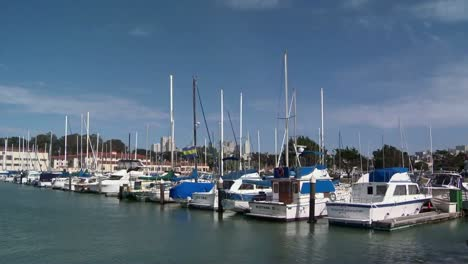 Sailboats-In-A-Marina-