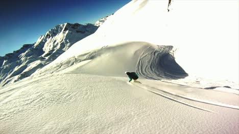 Snowboarding-Off-Piste