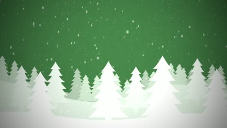 Snowy-Christmas-Scene-Green-