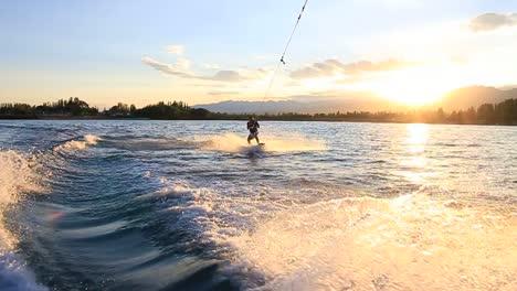Wakeboard-en-el-lago