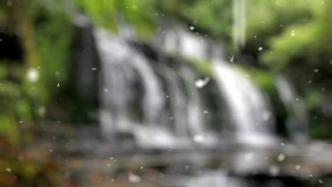 Waterfall-Snow-Background-HD-Footage-