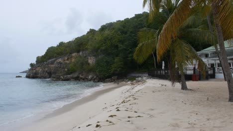 Caribbean-Beach-and-Wooded-Hillside