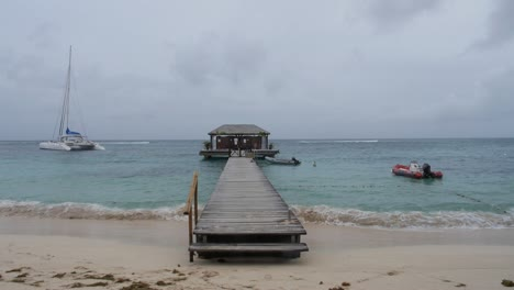 Dock-on-a-Caribbean-Beach