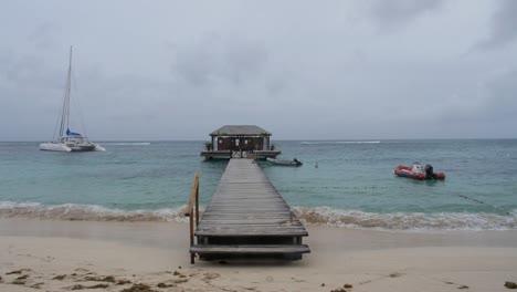 Dock-on-a-Caribbean-Beach