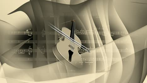 Abstract-Rotating-Violin-
