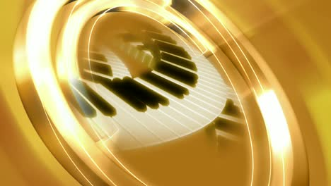 Golden-Rotating-Piano-Keys