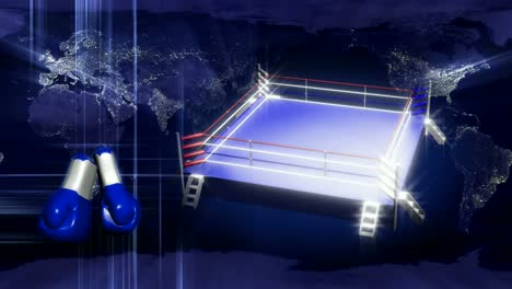 Boxing-Ring-Earth-Concept